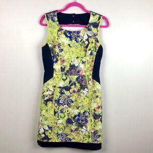 ANTHRO MCGINN Green Floral Dress